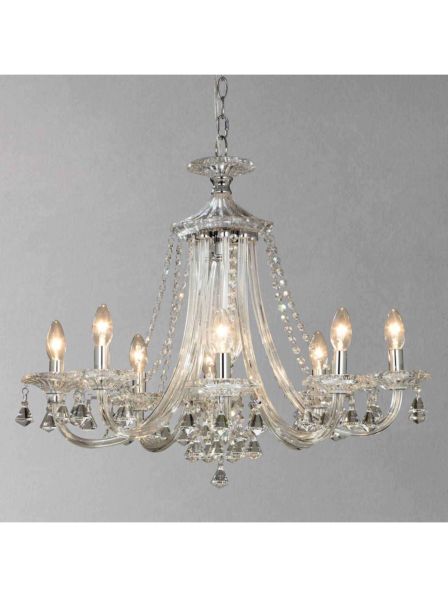 BuyJohn Lewis & Partners Ophelia Crystal Chandelier, 8 Light Online at johnlewis.com