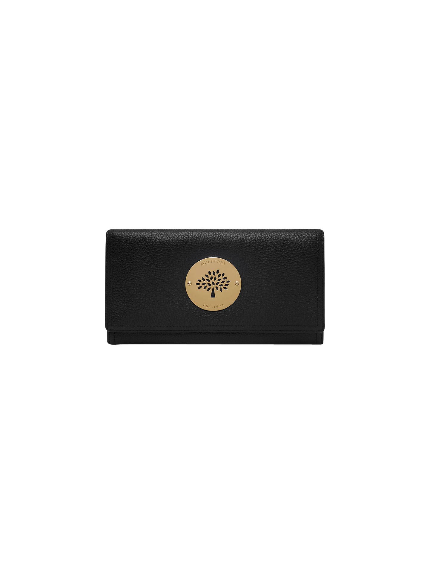 d70baee2f6 Buy Mulberry Daria Leather Continental Wallet, Black Online at  johnlewis.com ...