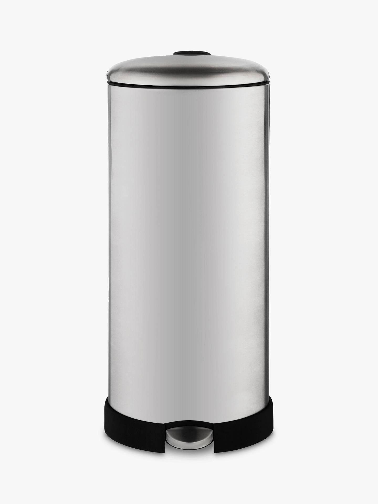 john lewis partners soft close pedal bin brushed steel. Black Bedroom Furniture Sets. Home Design Ideas