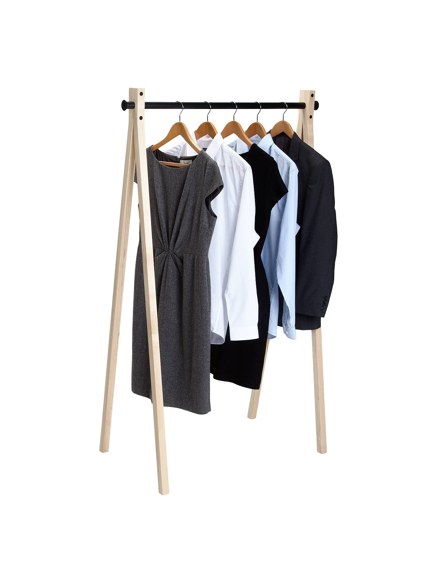 Buy Nomess Copenhagen Dress Up Clothes Rack, 90cm, Black Online at johnlewis.com
