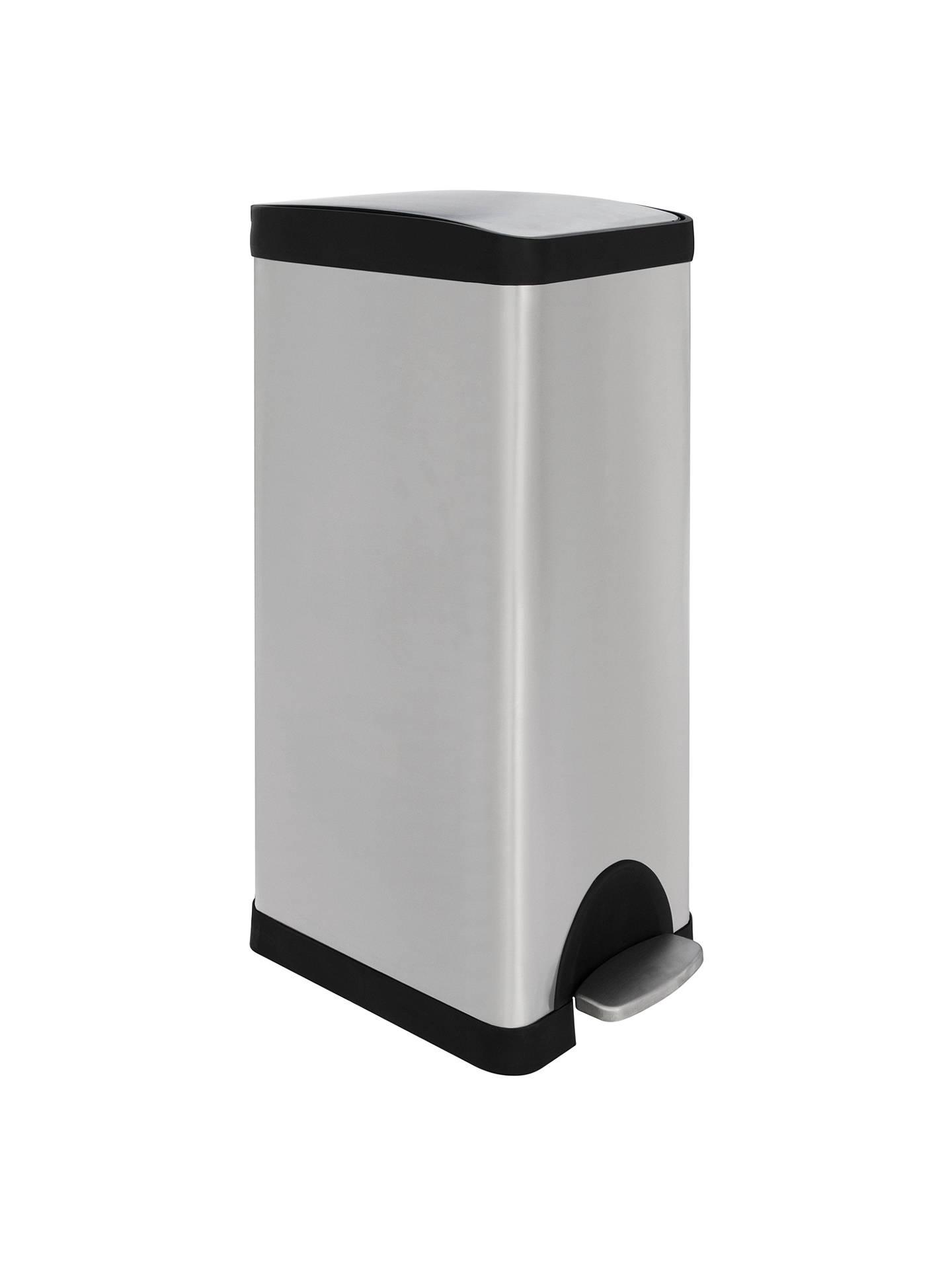 john lewis partners slim stainless steel pedal bin 30l. Black Bedroom Furniture Sets. Home Design Ideas