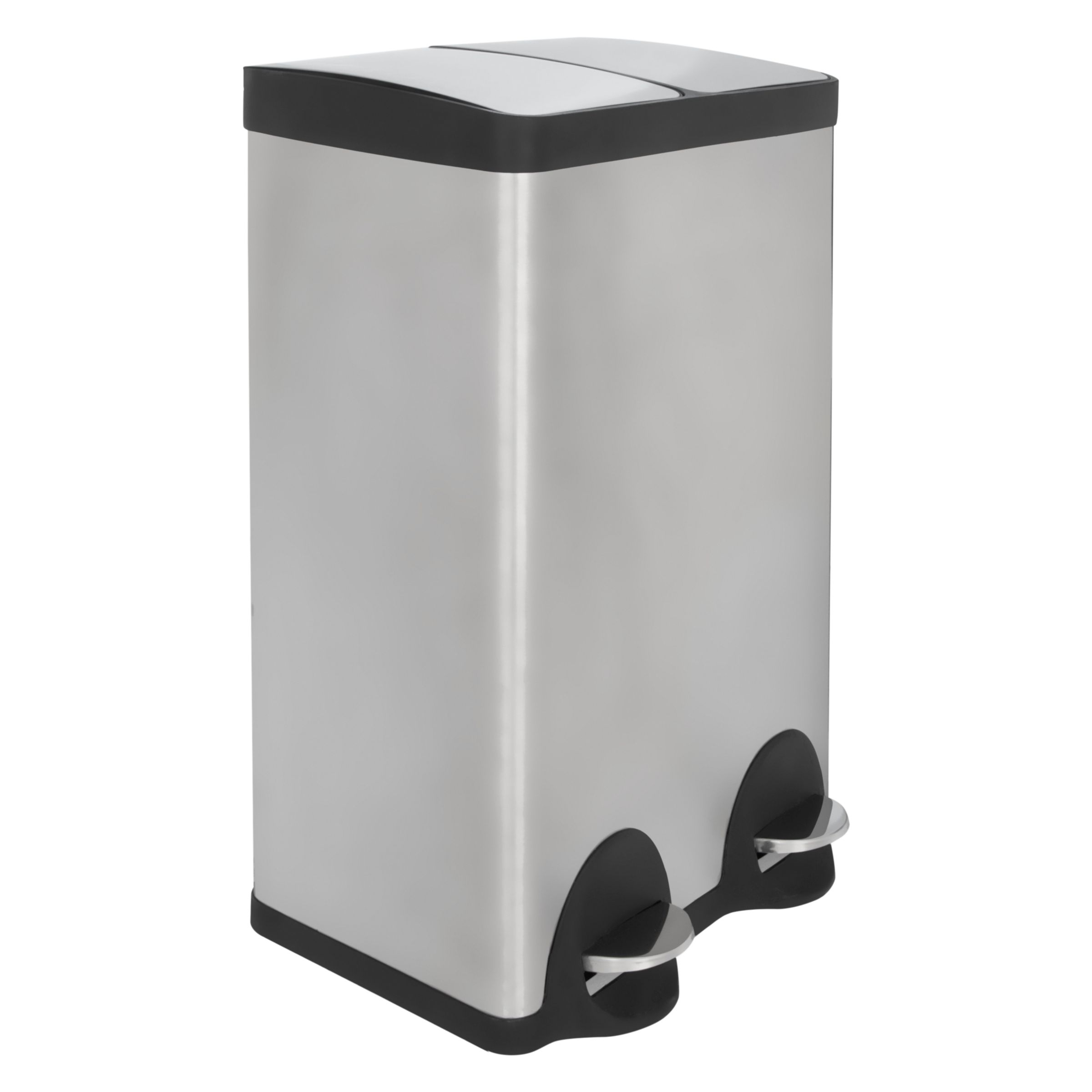 john lewis 2 section recycling bin stainless bluewater. Black Bedroom Furniture Sets. Home Design Ideas