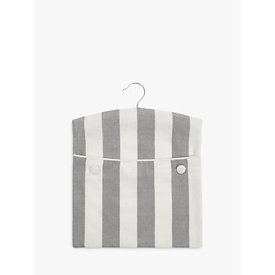 John Lewis Chambray Stripe Peg Bag, Grey