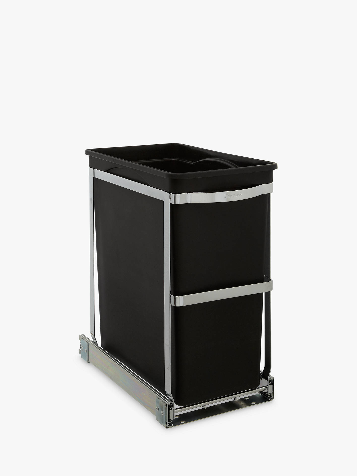 Buy simplehuman Pull-Out Bin, Heavy Steel Frame, 30L Online at johnlewis.com