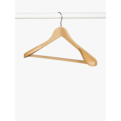Product photo of John lewis wood bulbous suit hanger fsccertified beech
