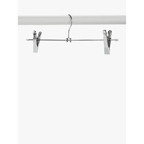Buy John Lewis Metal Trouser Hangers, Set of 3, White Online at johnlewis.com