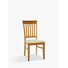 Buy John Lewis Alba Slat Back Dining Chair, Oak Online at johnlewis.com