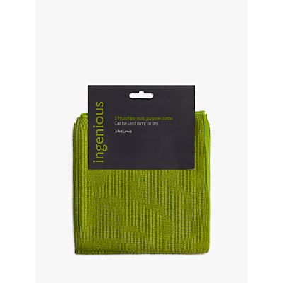 John Lewis Ingenious Microfibre Cleaning Cloths, Pack of 2
