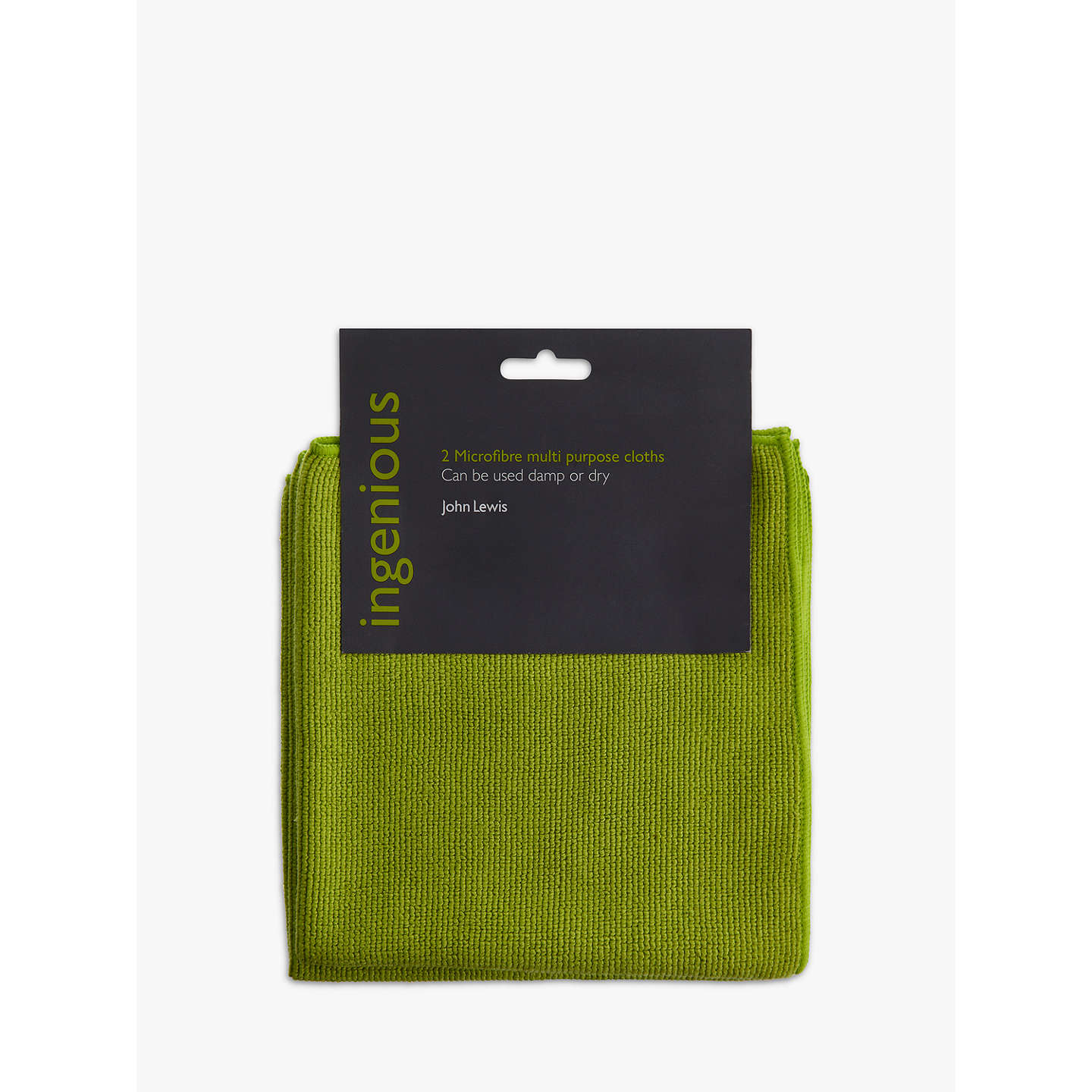 John Lewis Ingenious Microfibre Cleaning Cloths, Pack of 2 at John Lewis