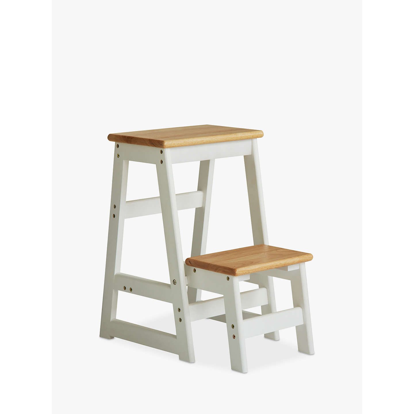 house by john lewis fixed wooden step stool at john lewis. Black Bedroom Furniture Sets. Home Design Ideas