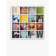 "Buy Umbra Multi-aperture Gridart Photo Display, 16 Photo, 4 x 4"" (10 x 10cm) Online at johnlewis.com"