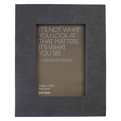 John Lewis Croft Collection Slate Photo Frame, 5 x 7 (13 x 18cm)