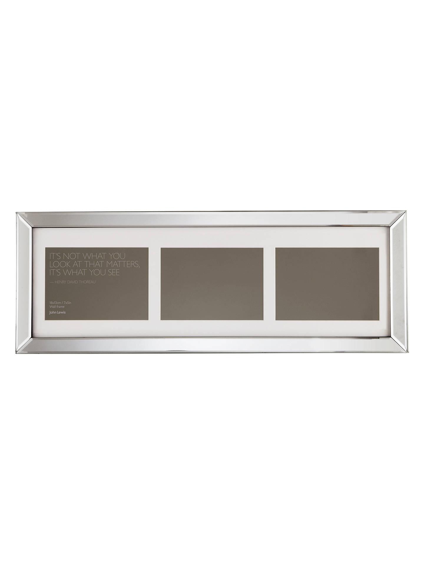 John Lewis Multi Aperture Mirror Photo Frame 3 5 X 7