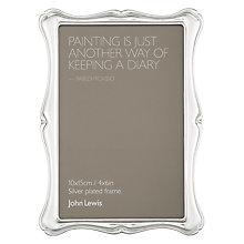 "Buy John Lewis Flora Photo Frame, Silver Plated, 4 x 6"" (10 x 15cm) Online at johnlewis.com"