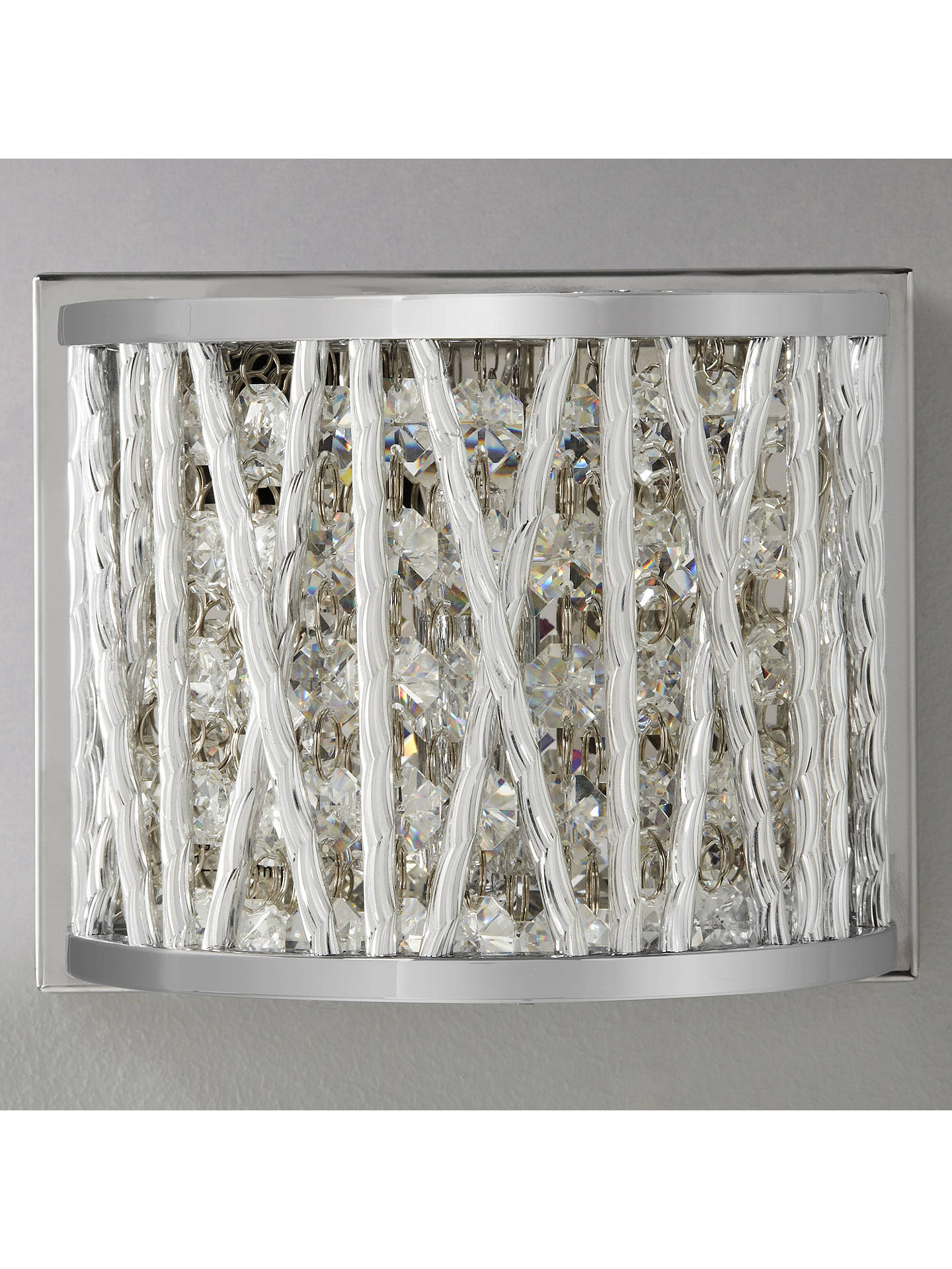 Buy John Lewis & Partners Emilia Crystal Drum Wall Light Online at johnlewis.com