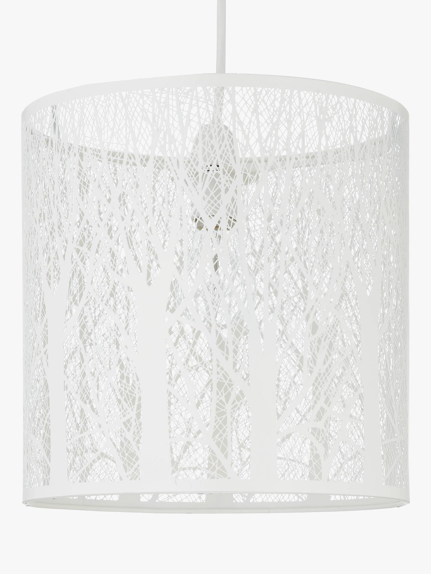 Buy John Lewis & Partners Devon Easy-to-Fit Small Ceiling Shade, White Online at johnlewis.com