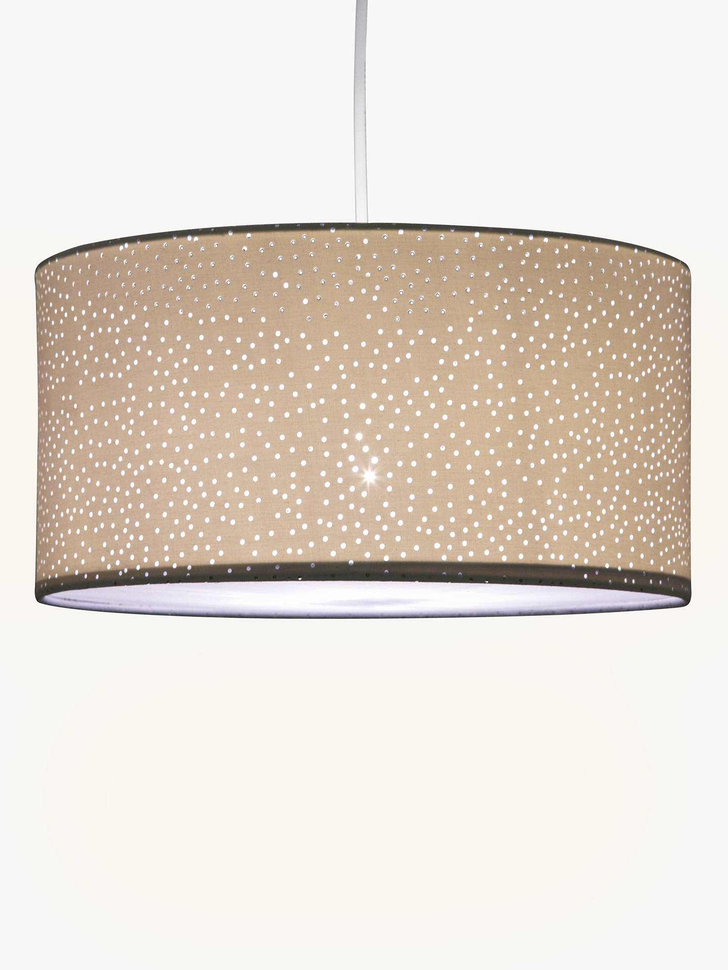 John Lewis Partners Alice Starry Sky Easy To Fit Ceiling Shade White