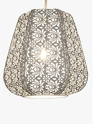John Lewis & Partners Rosanna Easy-to-Fit Ceiling Shade, White