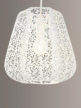 John Lewis & Partners Easy-to-fit Rosanna Ceiling Pendant Shade, White