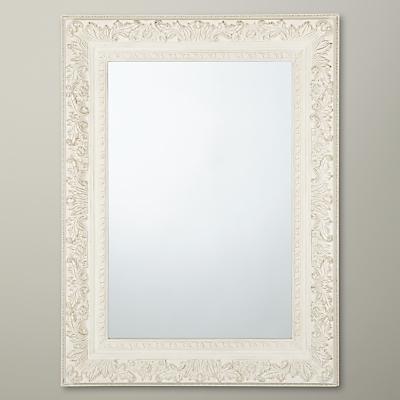 John Lewis Loire Mirror, Cream, H90 x W120cm