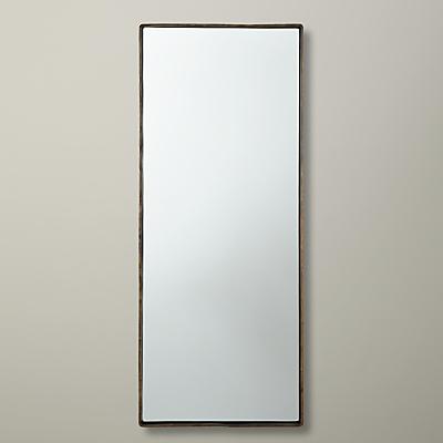John Lewis Rectangle Iron Mirror, 76 x 30cm, Brass