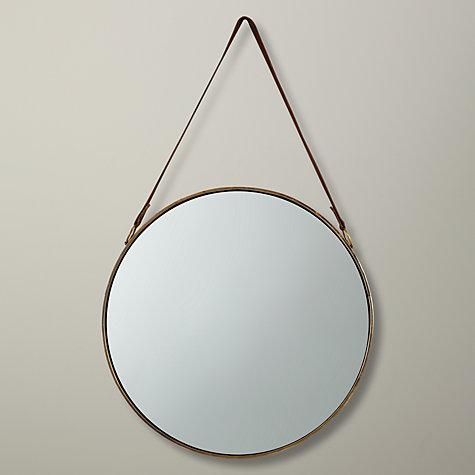 Buy john lewis round hanging mirror dia 50cm john lewis for Hanging a large mirror