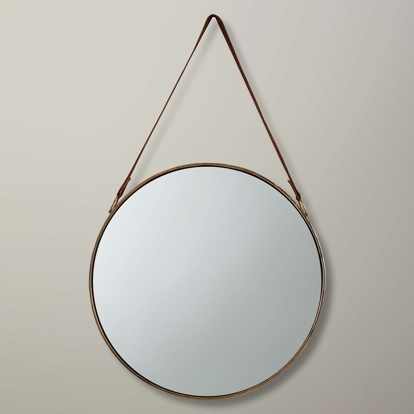 John Lewis Round Hanging Mirror Dia 50cm Matte Brass At Johnlewis