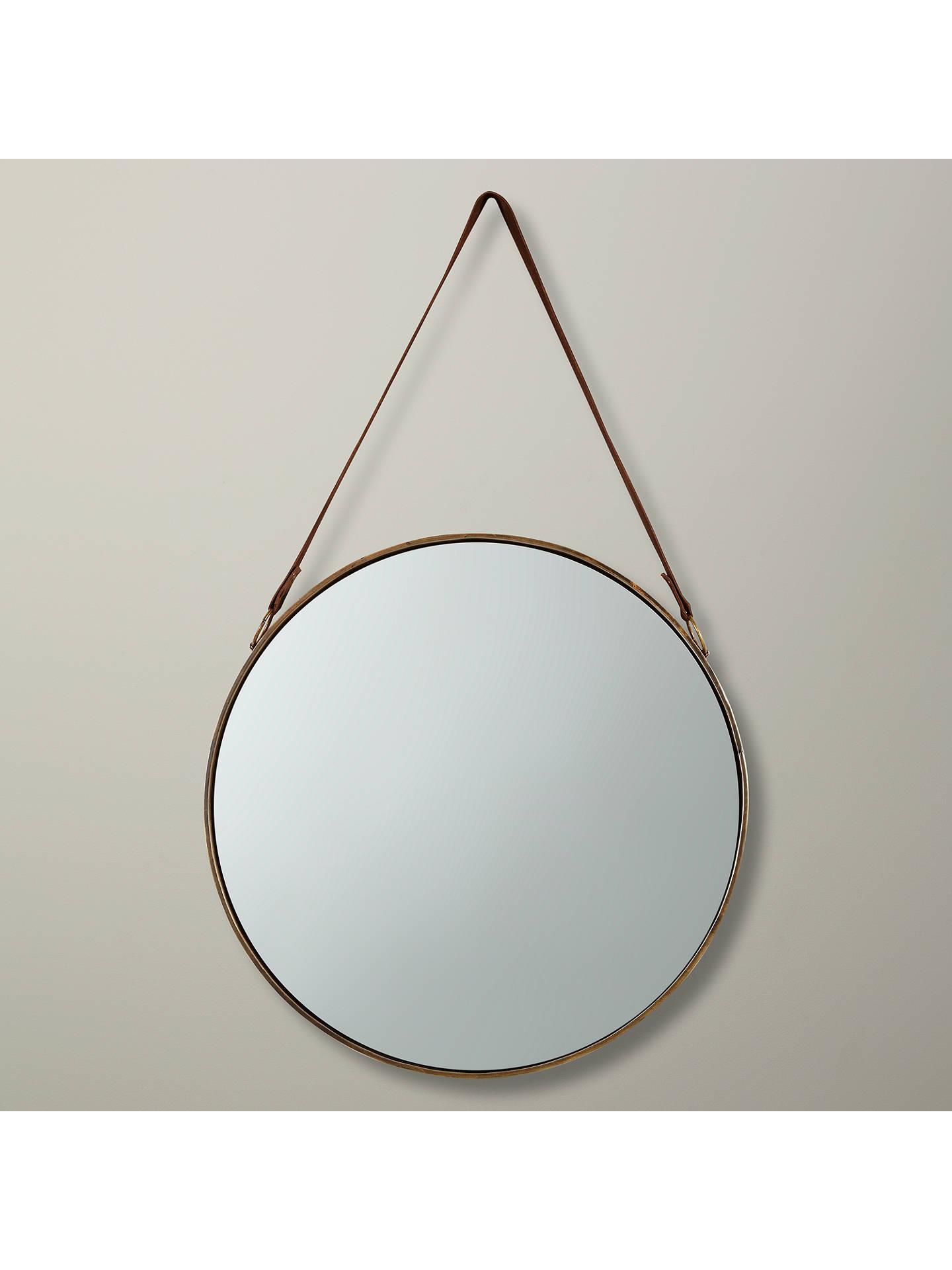 John Lewis Partners Ronda Round Hanging Mirror Dia 50cm Br