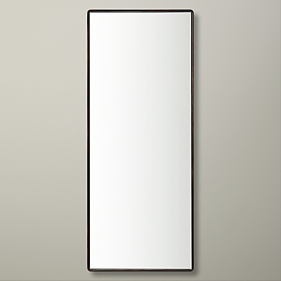John Lewis Rectangle Iron Mirror, 30 x 76cm