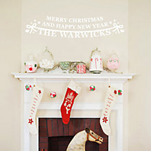 Buy Megan Claire Personalised Christmas Bunting Sticker Online at johnlewis.com