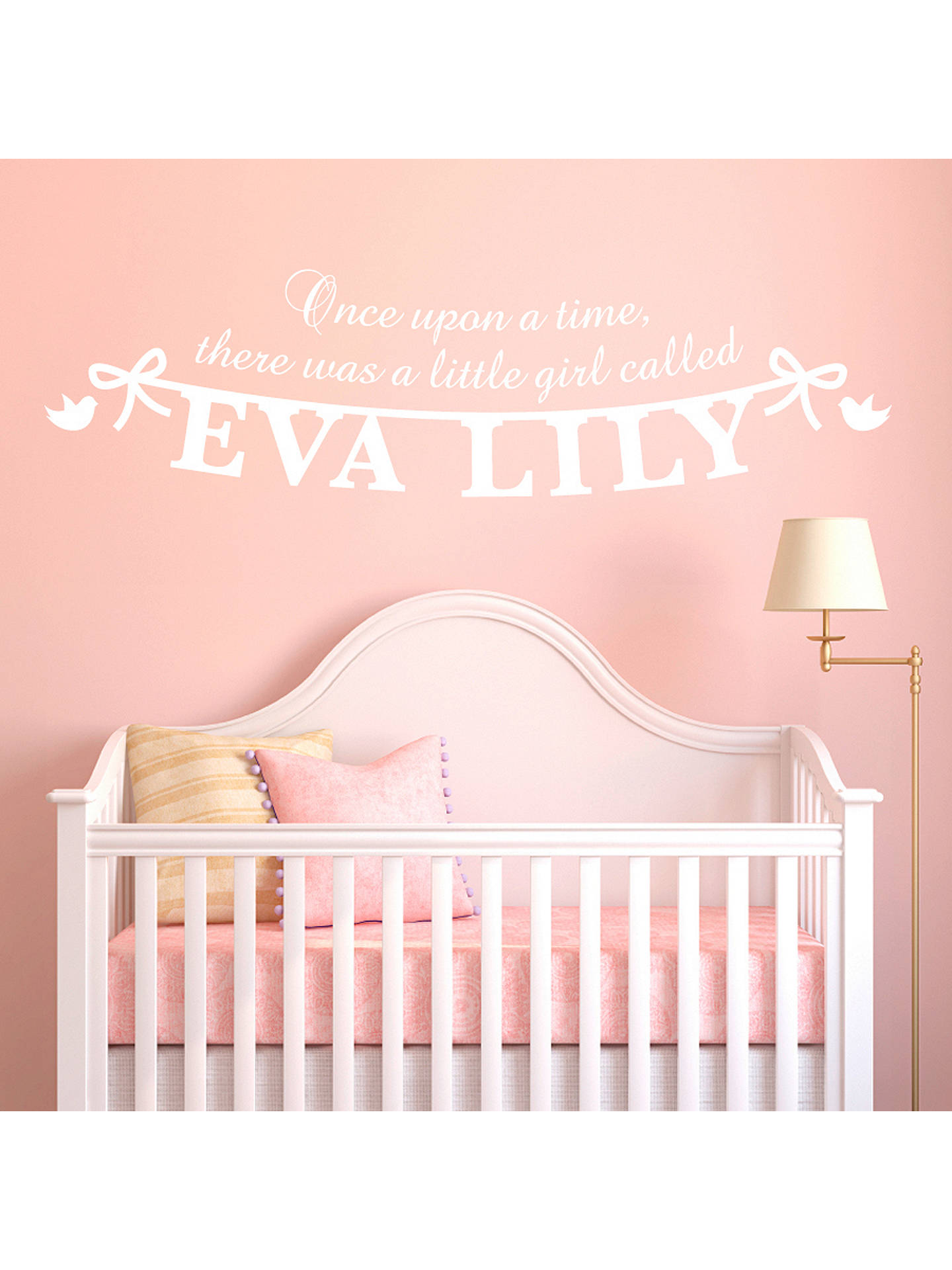 Buy megan claire personalised little girl wall sticker white online at johnlewis com
