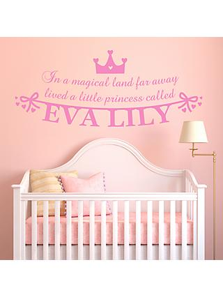 Megan Claire Personalised Little Princess Wall Sticker