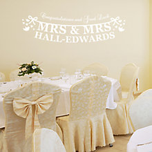 Buy Megan Claire Personalised Mrs & Mrs Just Married Wall Sticker Online at johnlewis.com