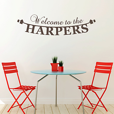 Megan Claire Personalised Welcome to Our Home Wall Sticker