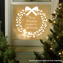 Buy Megan Claire Personalised Family Christmas Wreath Wall Sticker Online at johnlewis.com