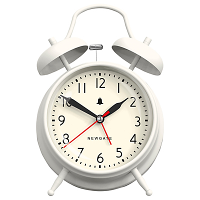 Newgate Covent Garden Twinbell Clock, Linen White