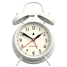 Buy Newgate Covent Garden Twinbell Clock, Linen White Online at johnlewis.com
