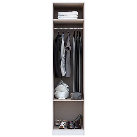 Buy House by John Lewis Mix it Mirrored Single Wardrobe, Grey Ash Online at johnlewis.com