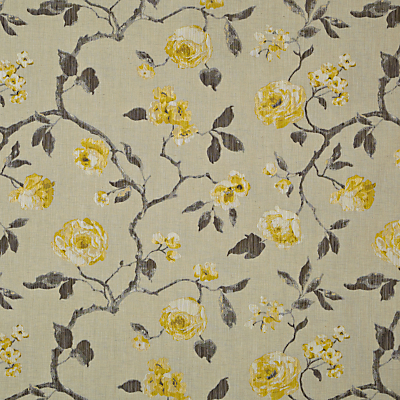 John Lewis & Partners Linen Rose Furnishing Fabric, Yellow