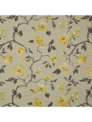 John Lewis & Partners Linen Rose Furnishing Fabric, Yellow