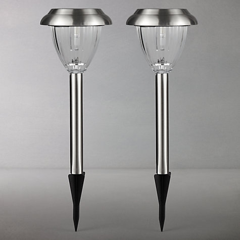 Buy John Lewis Bahia Outdoor LED Solar Stake Lights, Pack of 2 Online at johnlewis.com
