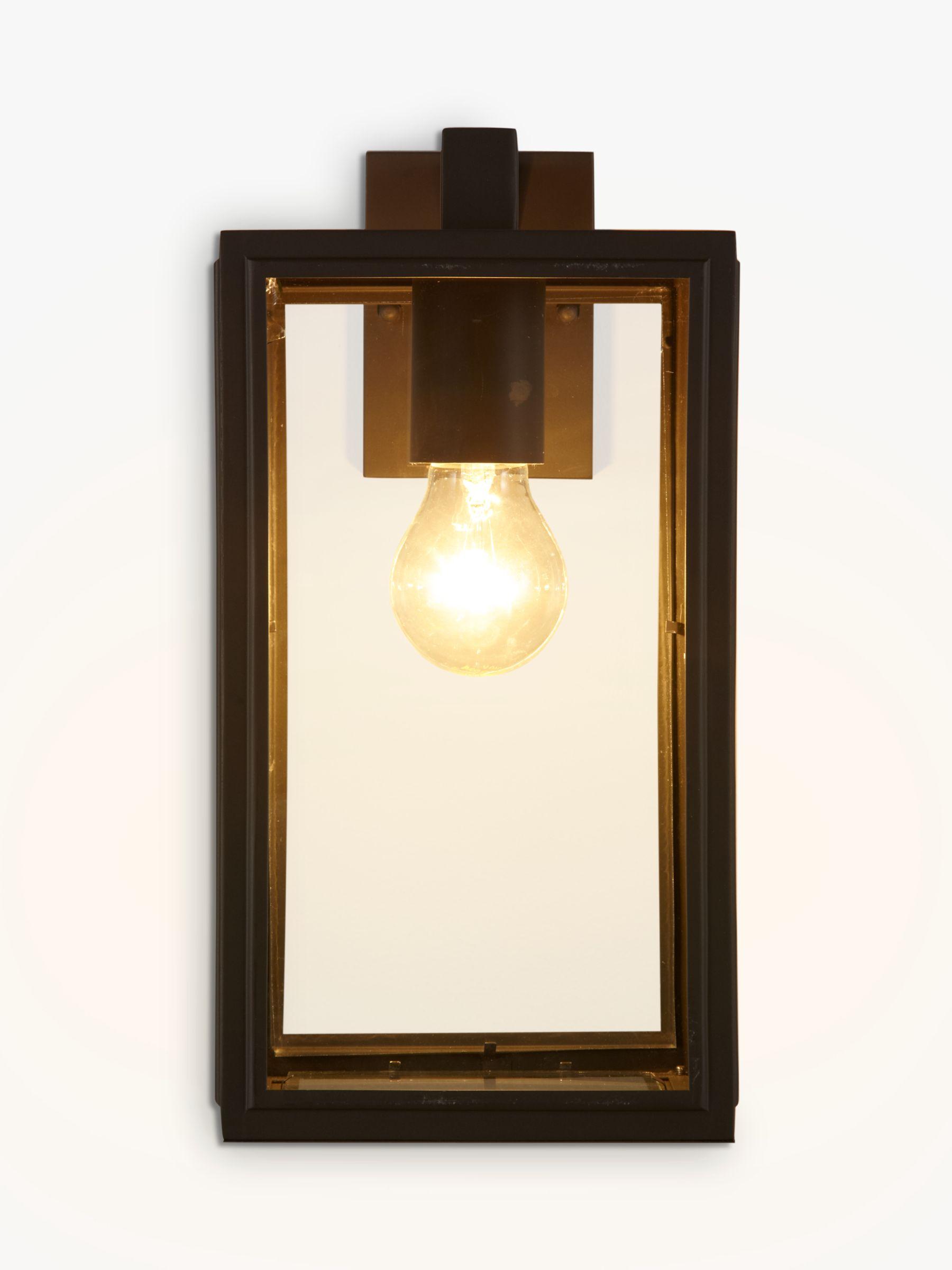 John Lewis & Partners Louvre Outdoor Glass Lantern, Coffee