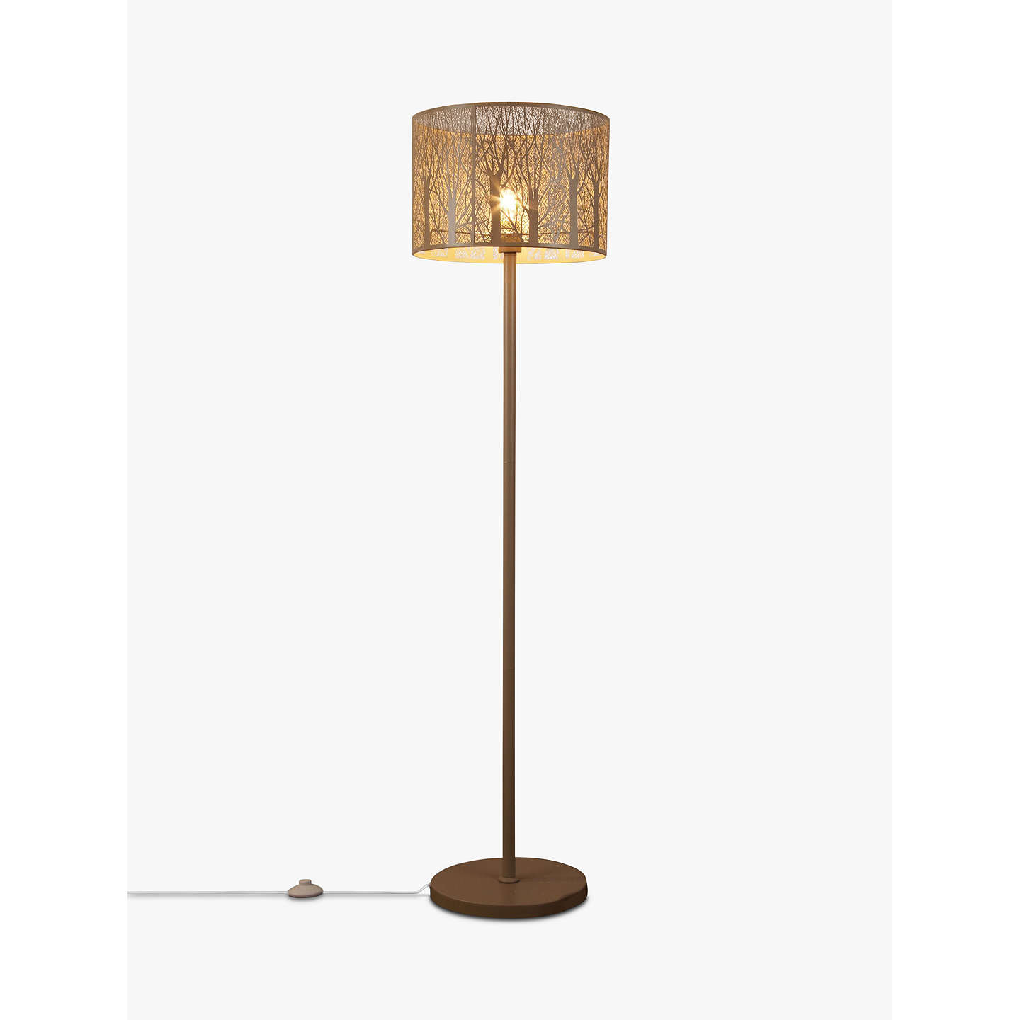 ... BuyJohn Lewis Devon Large Floor Lamp, Taupe Online At Johnlewis.com ...