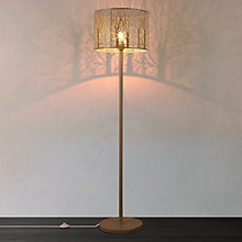 Buy John Lewis Devon Large Floor Lamp, Taupe Online at johnlewis.com