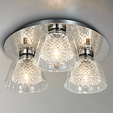 Buy Illuminati Horatio Cut Crystal Bathroom Flush Light, 3 Light Online at johnlewis.com