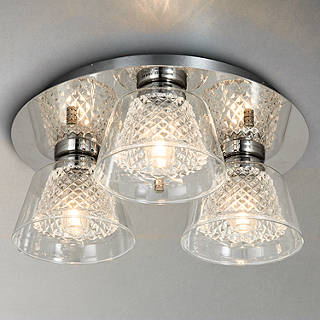 Illuminati bathroom lighting john lewis illuminati horatio cut crystal bathroom flush light 3 light aloadofball Gallery