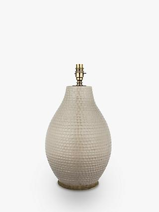 John Lewis & Partners Rowan Fishingnet Jar Lamp Base, Taupe, H43cm