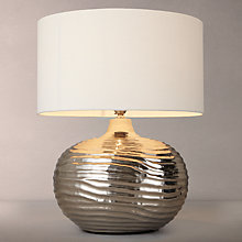 Buy John Lewis Ise Waves Metal Table Lamp, Nickel Online at johnlewis.com