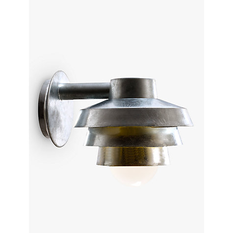 Buy Nordlux Elements Galvanised Outdoor Wall Light, Silver Online at johnlewis.com
