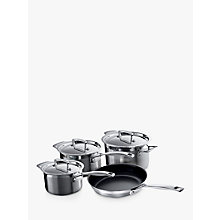 Buy Le Creuset 3-Ply Stainless Steel Pan Set, 4 Pieces Online at johnlewis.com